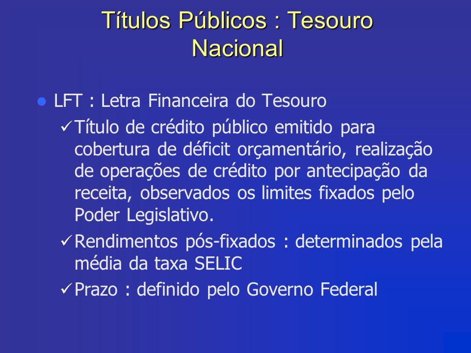Títulos Públicos : Tesouro Nacional