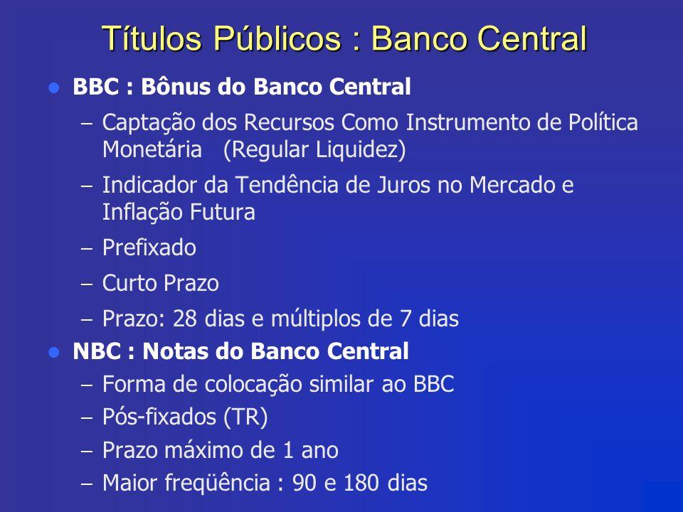 Títulos Públicos : Banco Central