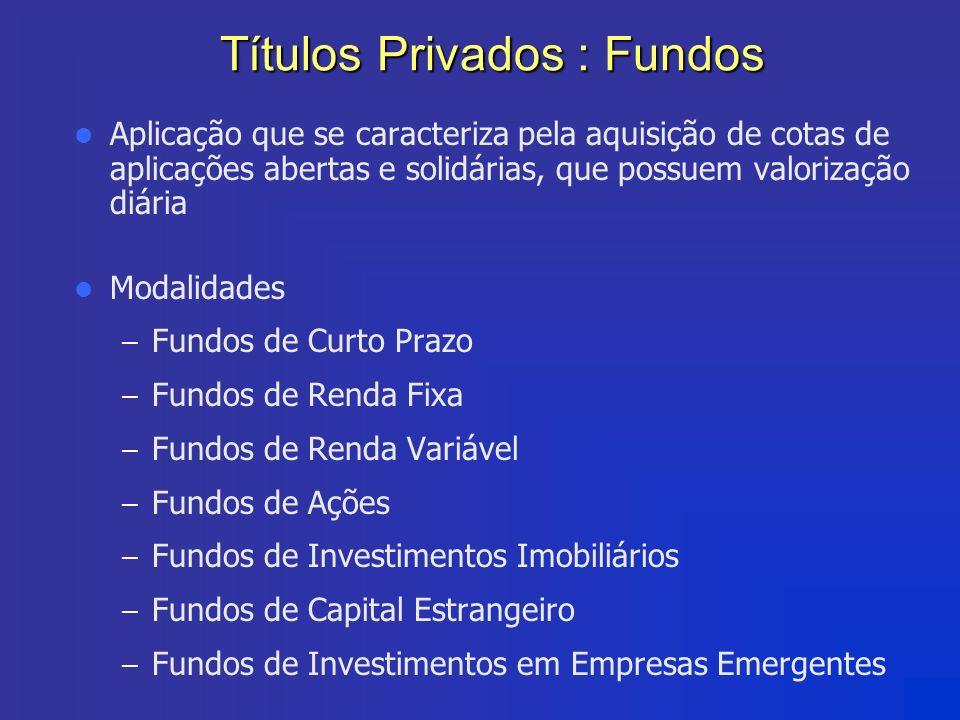 Títulos Privados : Fundos
