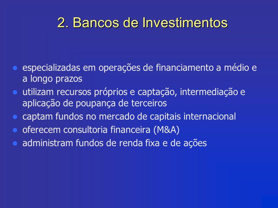2. Bancos de Investimentos