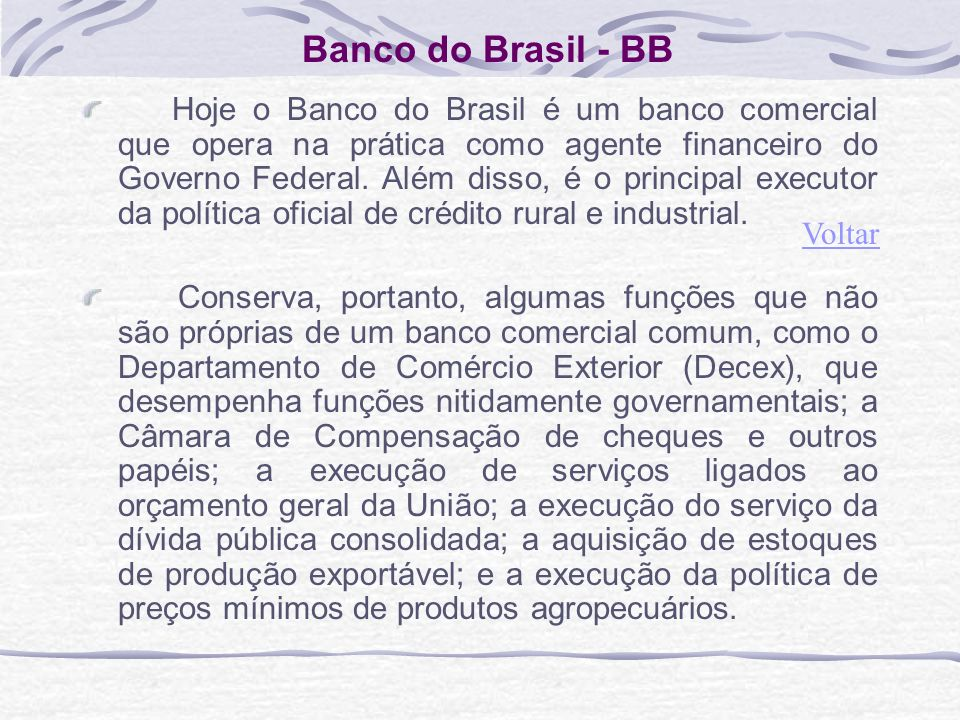 Banco do Brasil - BB
