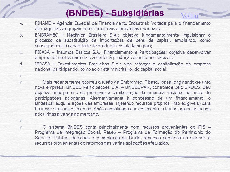 (BNDES) - Subsidiárias