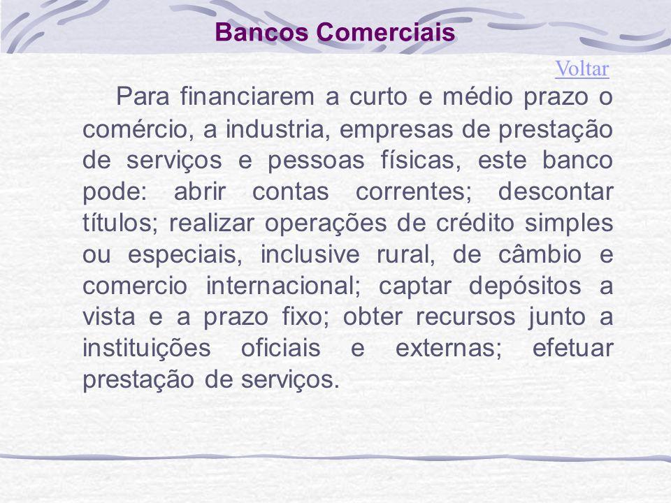 Bancos Comerciais Voltar.