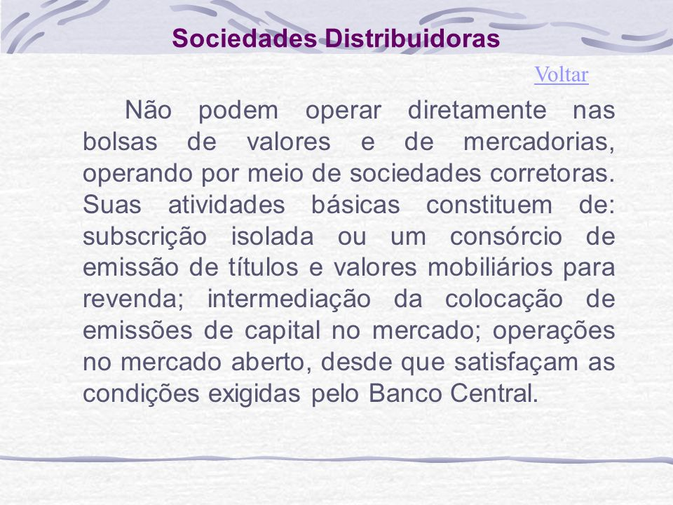 Sociedades Distribuidoras