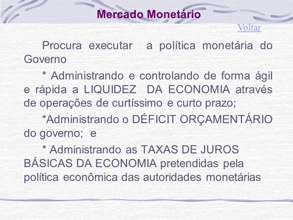 Procura executar a política monetária do Governo