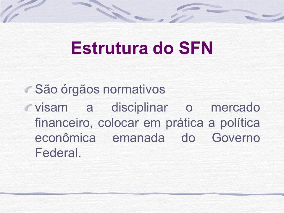 Estrutura do SFN São órgãos normativos