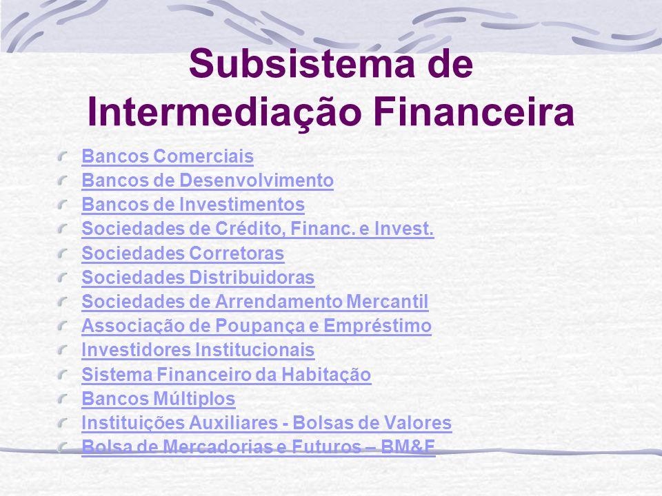 Subsistema de Intermediação Financeira