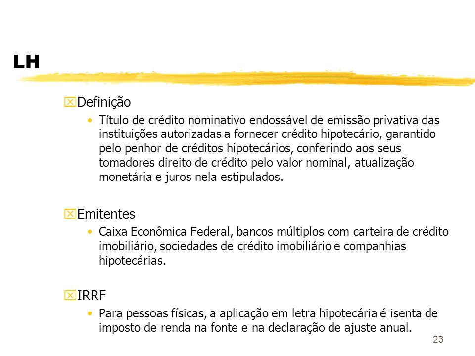 LH Definição Emitentes IRRF