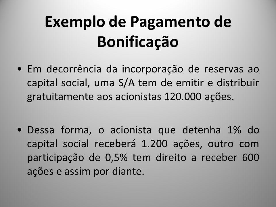 Exemplo de Pagamento de Bonificação