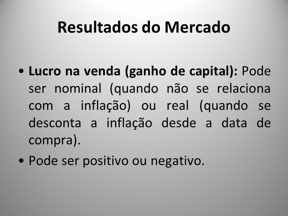 Resultados do Mercado