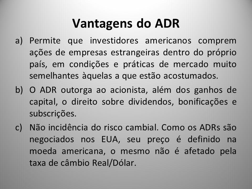 Vantagens do ADR