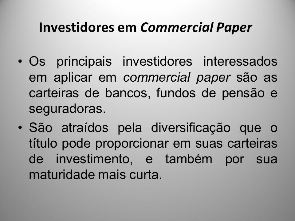 Investidores em Commercial Paper