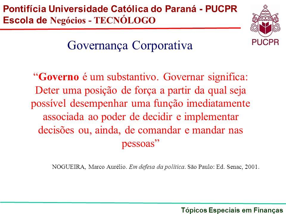 Governo é um substantivo