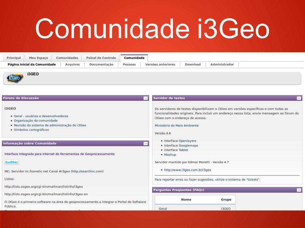 Comunidade i3Geo