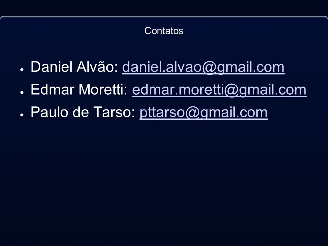 Daniel Alvão: daniel.alvao@gmail.com