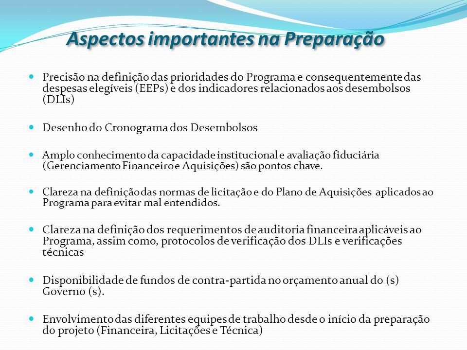 Aspectos importantes na Preparação