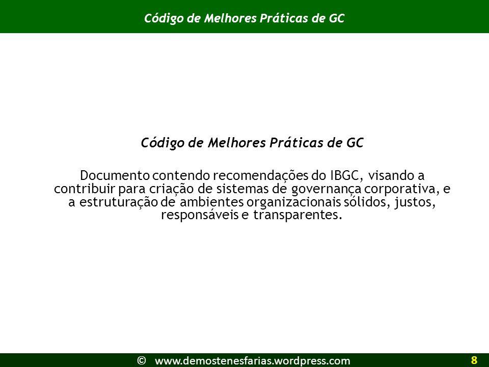 Código de Melhores Práticas de GC Código de Melhores Práticas de GC