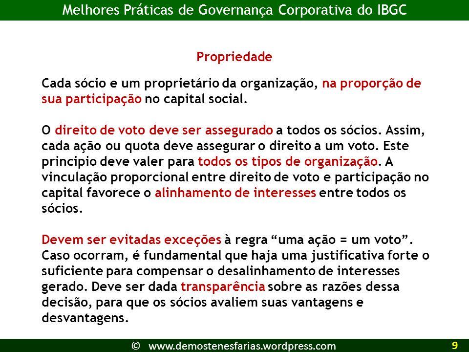 Melhores Práticas de Governança Corporativa do IBGC