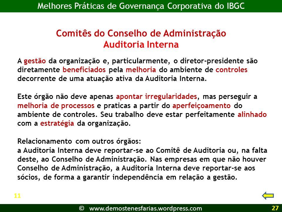 Comitês do Conselho de Administração
