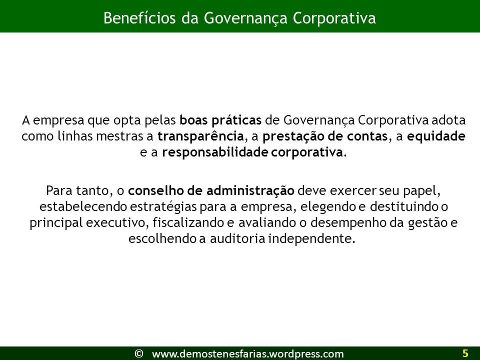 Benefícios da Governança Corporativa