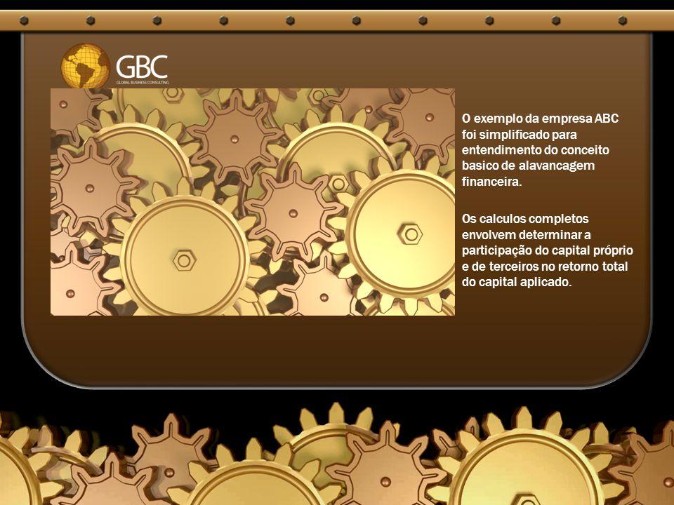 O exemplo da empresa ABC foi simplificado para entendimento do conceito basico de alavancagem financeira.