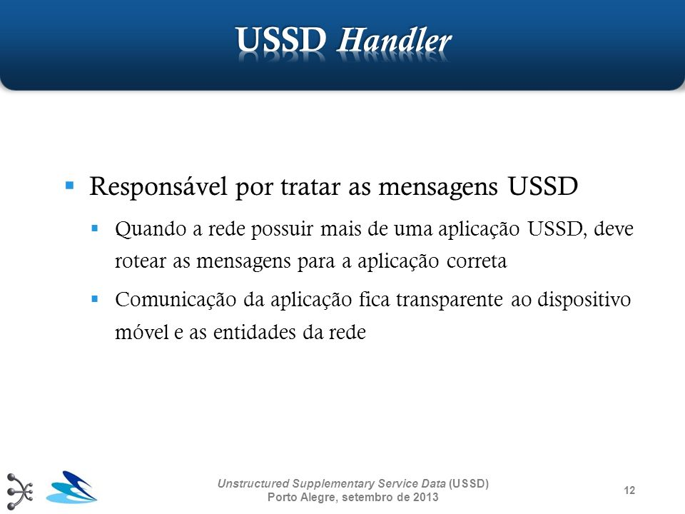 USSD Handler Responsável por tratar as mensagens USSD