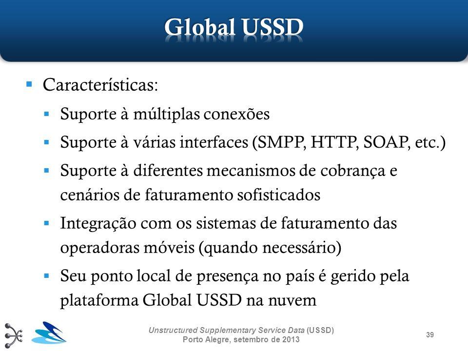 Global USSD Características: Suporte à múltiplas conexões