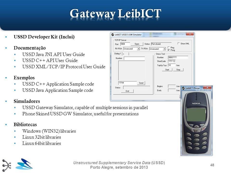 Gateway LeibICT USSD Developer Kit (Inclui) Documentação Exemplos