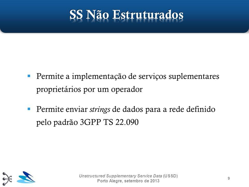 SS Não Estruturados Permite a implementação de serviços suplementares proprietários por um operador.