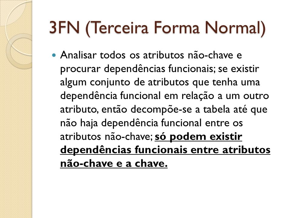 3FN (Terceira Forma Normal)