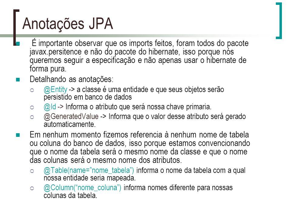 Anotações JPA