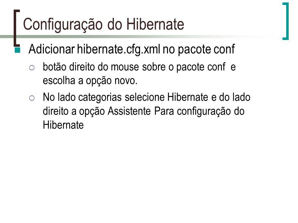 Configuração do Hibernate