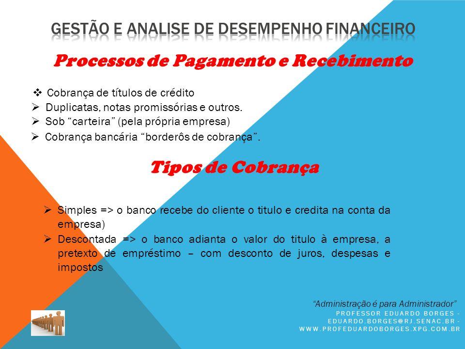 Processos de Pagamento e Recebimento