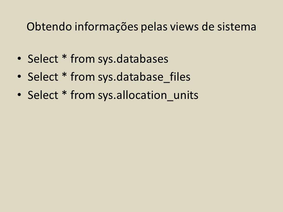Obtendo informações pelas views de sistema