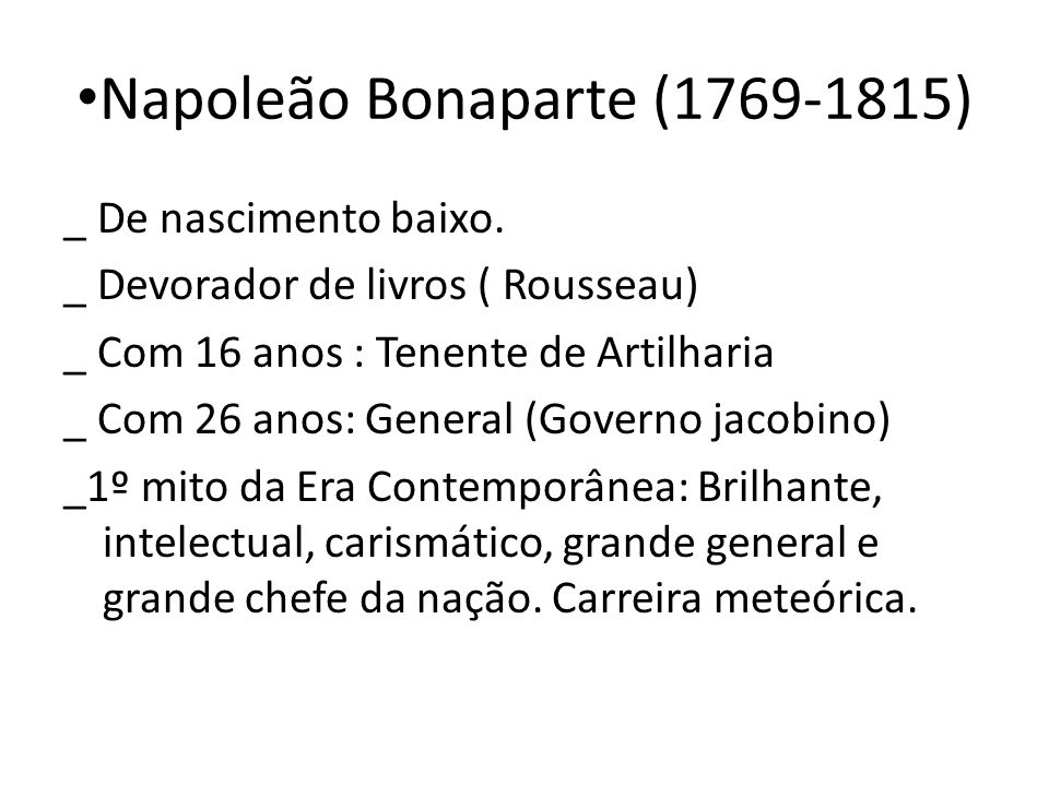 Napoleão Bonaparte (1769-1815)