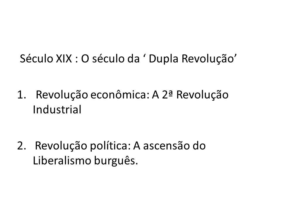 Século XIX : O século da ' Dupla Revolução'