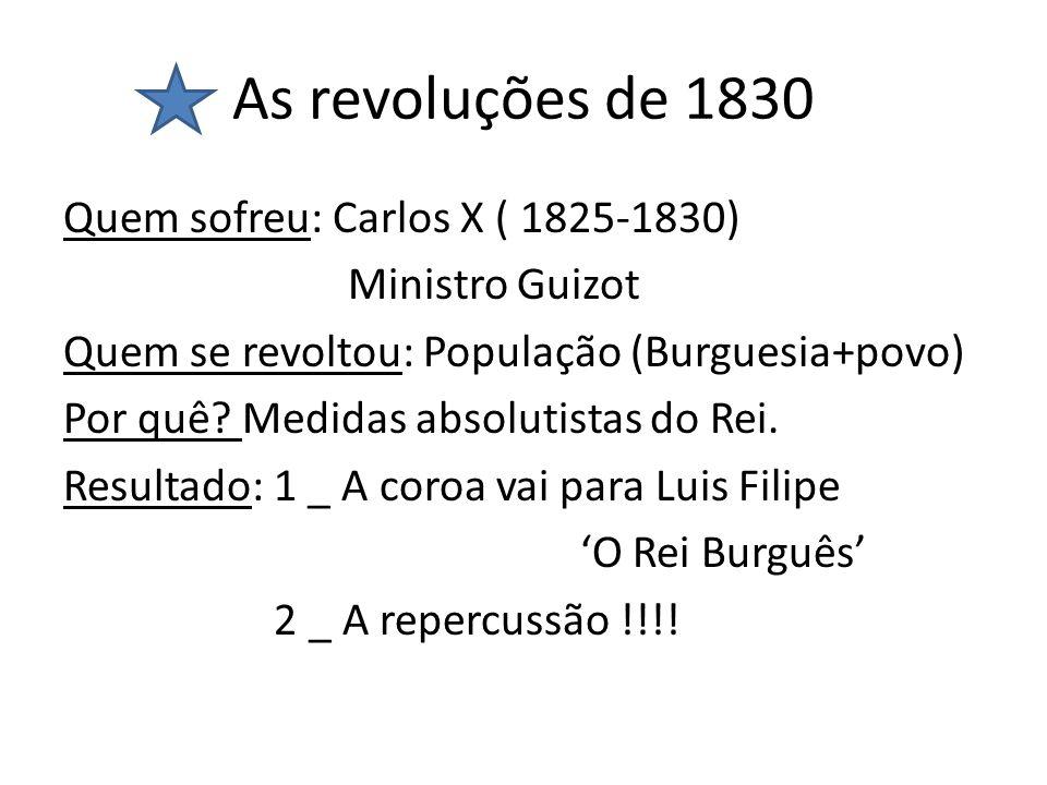 As revoluções de 1830
