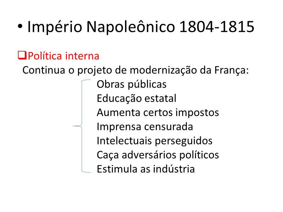 Império Napoleônico 1804-1815 Política interna