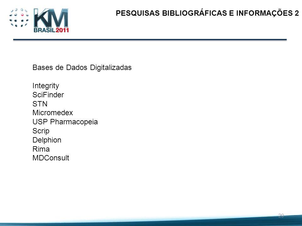 PESQUISAS BIBLIOGRÁFICAS E INFORMAÇÕES 2