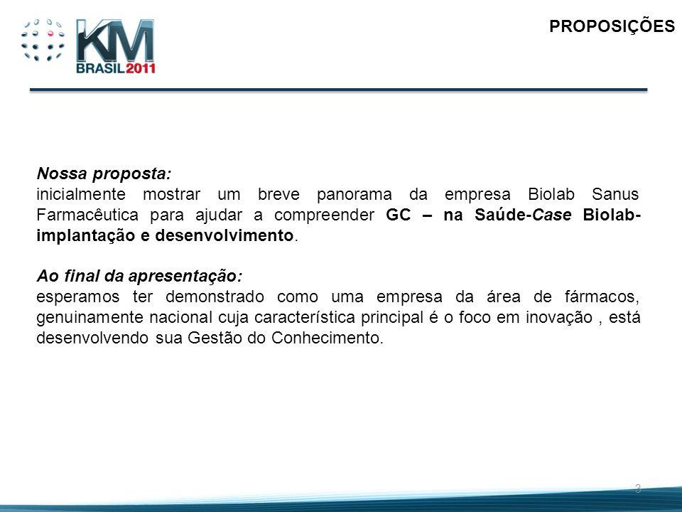 PROPOSIÇÕES Nossa proposta: