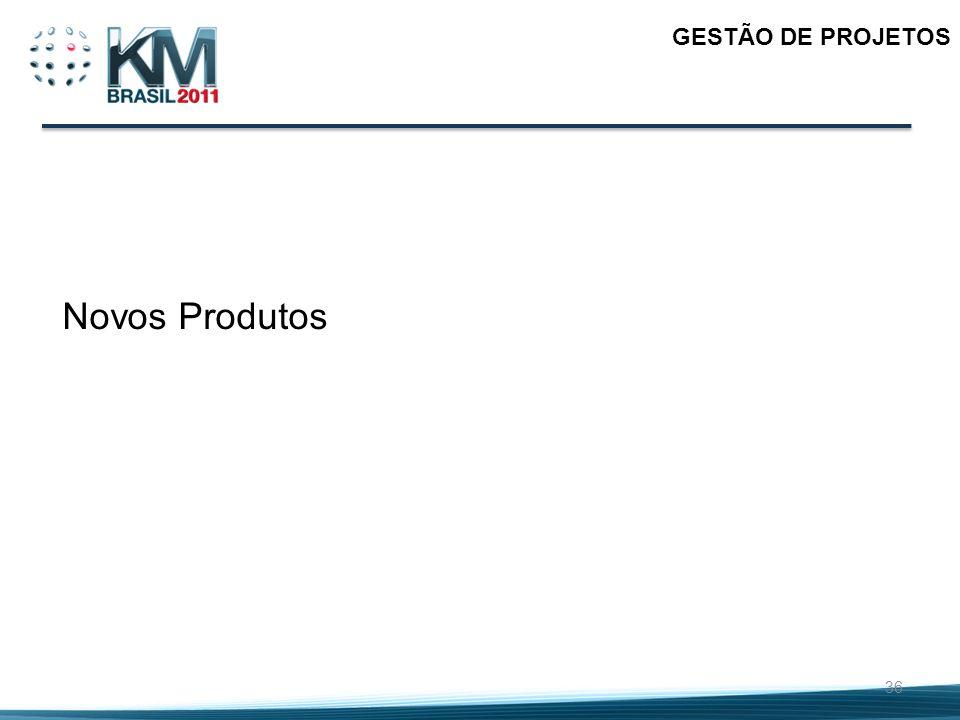 GESTÃO DE PROJETOS Novos Produtos