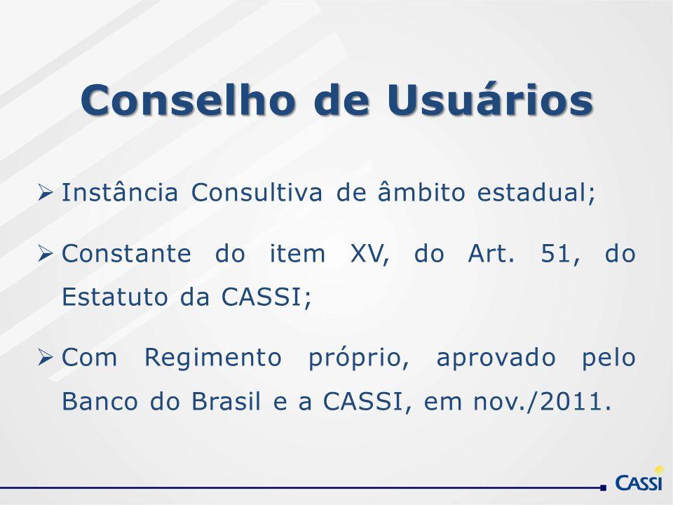 Conselho de Usuários Instância Consultiva de âmbito estadual;