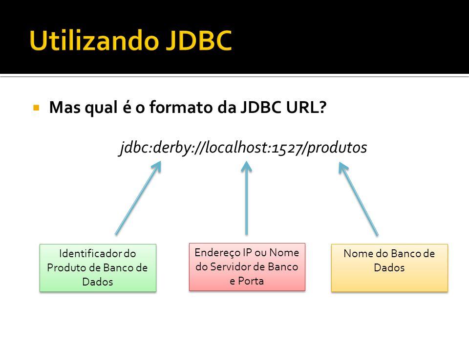 Utilizando JDBC Mas qual é o formato da JDBC URL