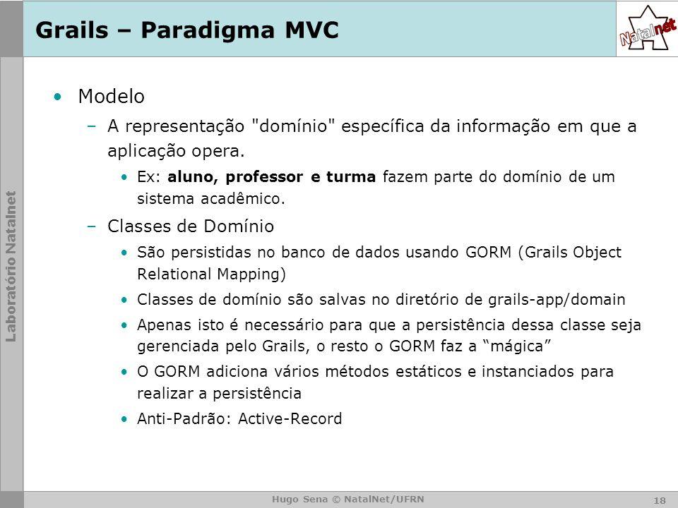 Grails – Paradigma MVC Modelo