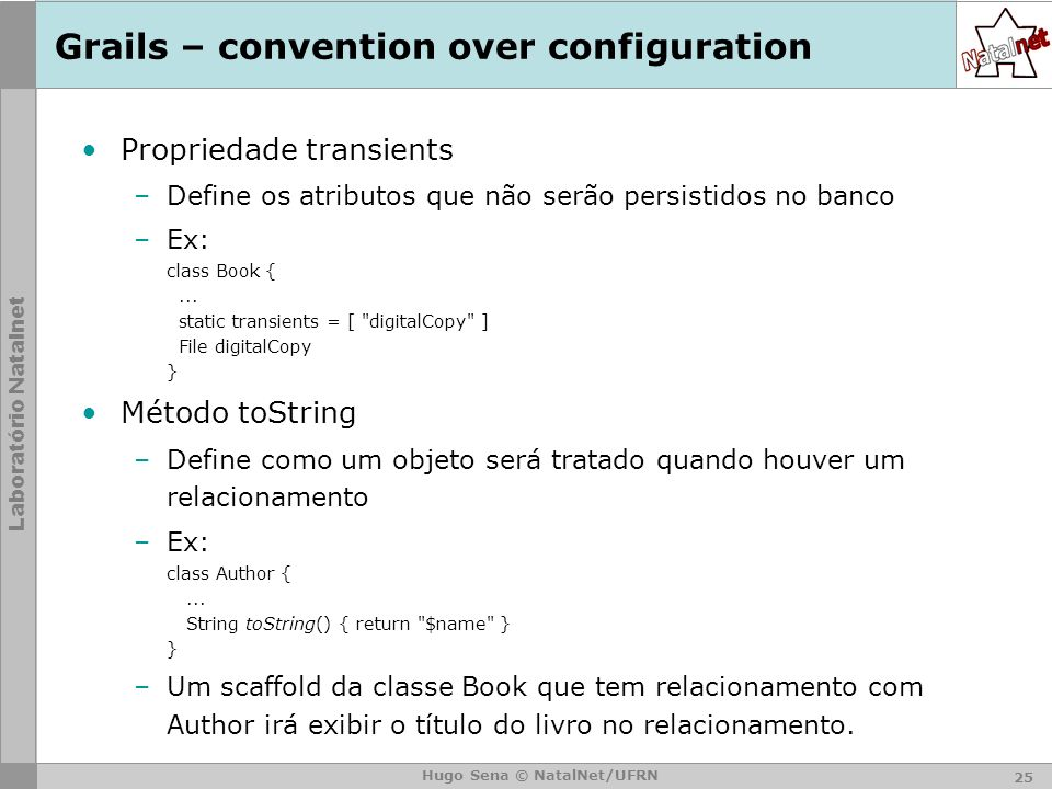 Grails – convention over configuration