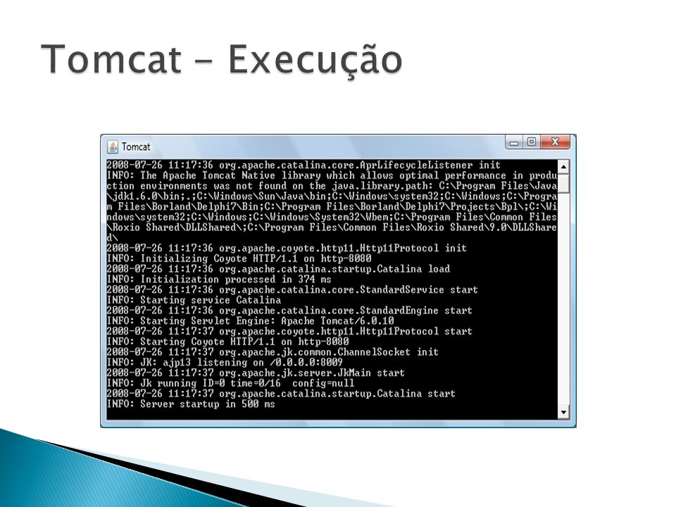 Tomcat - Execução