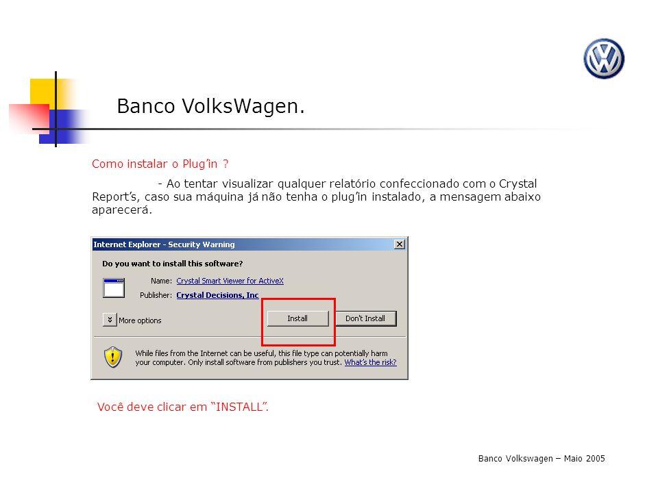 Banco VolksWagen. Como instalar o Plug'in