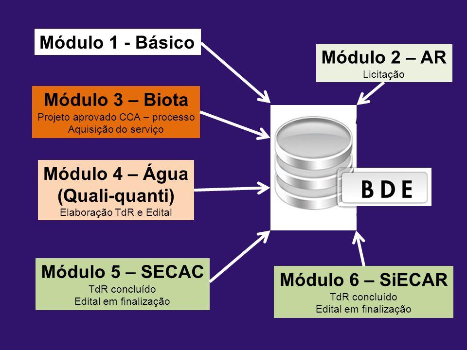 Módulo 1 Cronologia BDE-INEA Módulo 1 - Básico Módulo 2 – AR