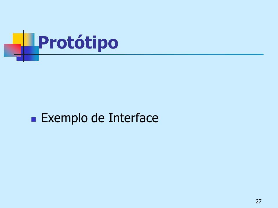 Protótipo Exemplo de Interface