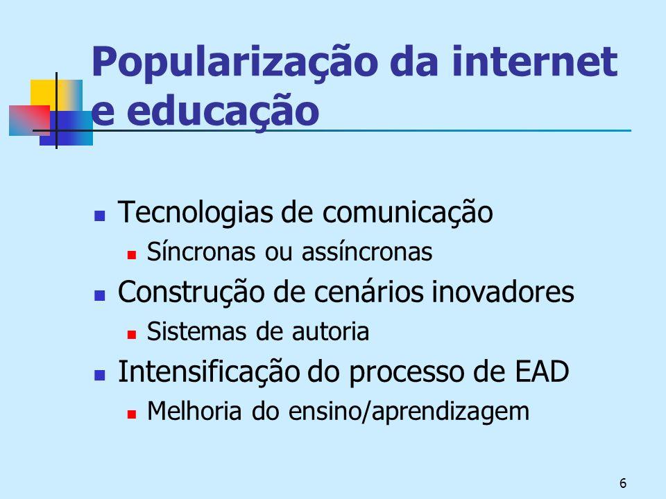 Popularização da internet e educação